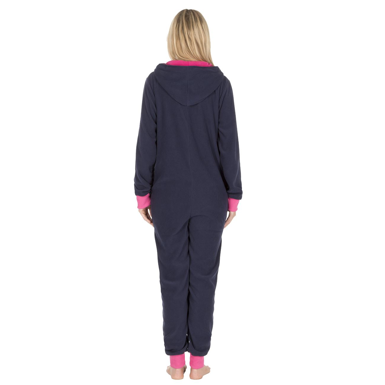 Ladies-Womens-Girls-Fleece-All-In-One-Pyjamas-Outfit-Jumpsuit-Costume-Size-6-18 thumbnail 45
