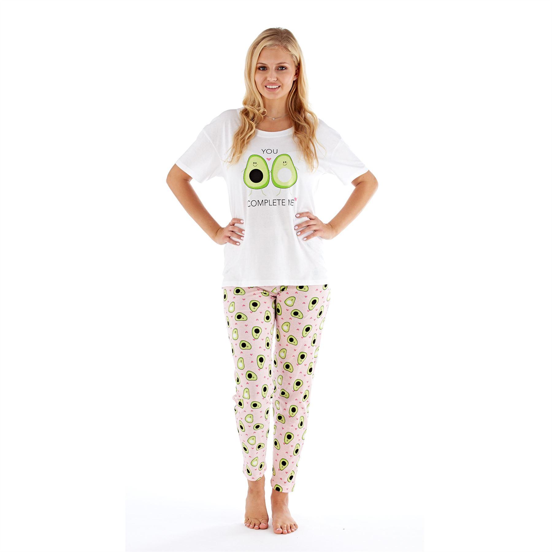 Womens-Ladies-Cotton-Pyjamas-Pyjama-PJs-Summer-Nightwear-Set-Size-8-18-NEW thumbnail 5