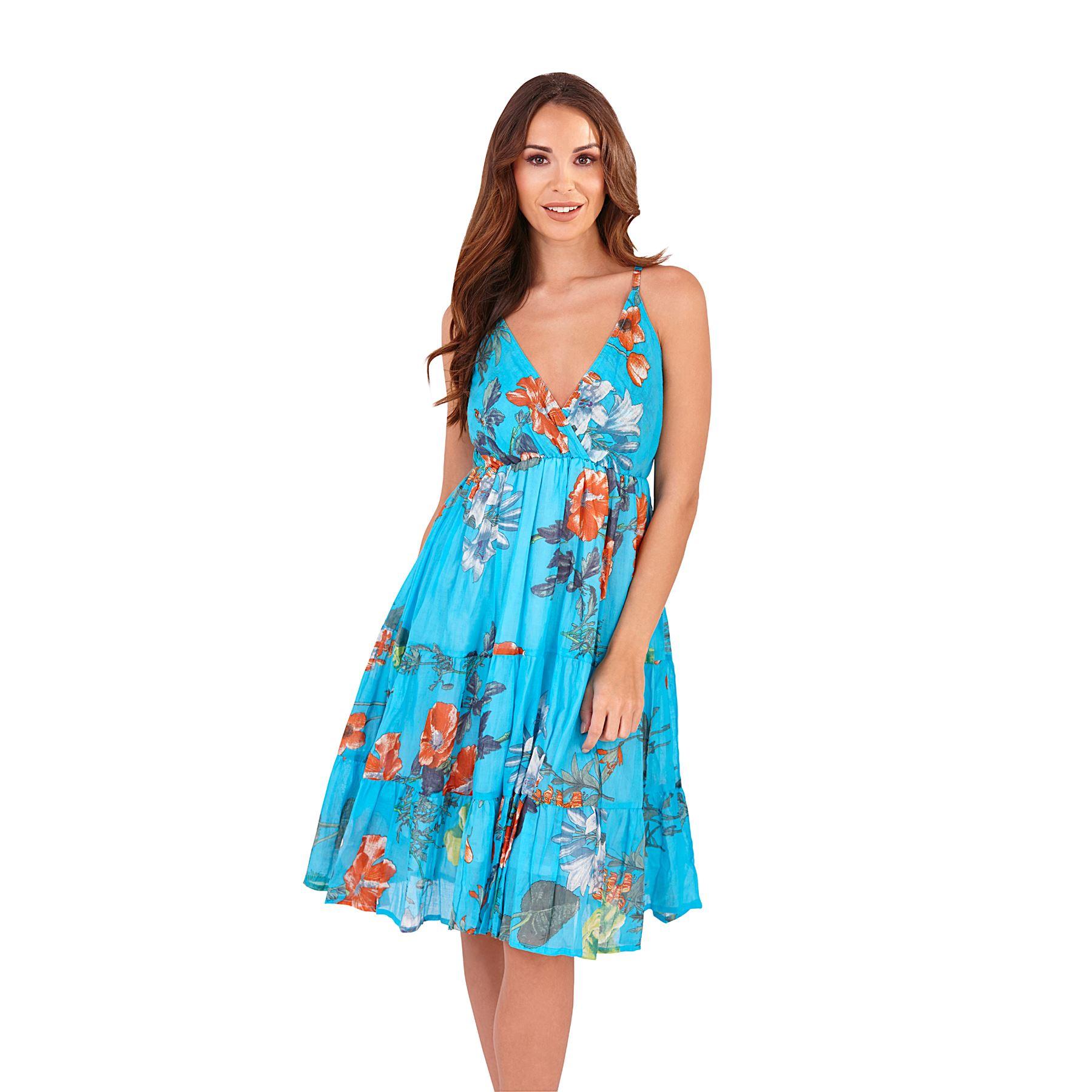 Ladies Summer/Beach Cotton Crossover/Cross Over Sun Dress ...