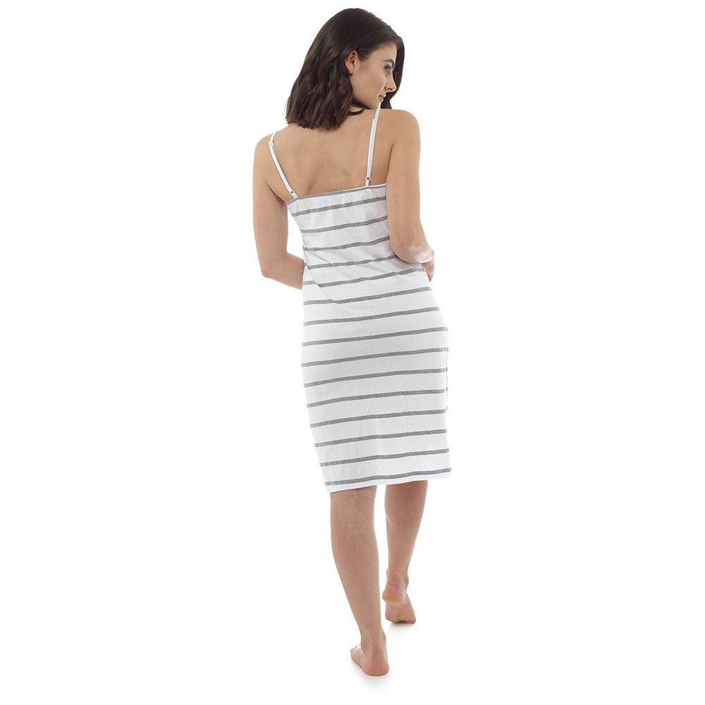 Ladies-Womens-Cotton-Chemise-Nightdress-Nightie-Pyjamas-Size-8-22-NEW miniatura 5