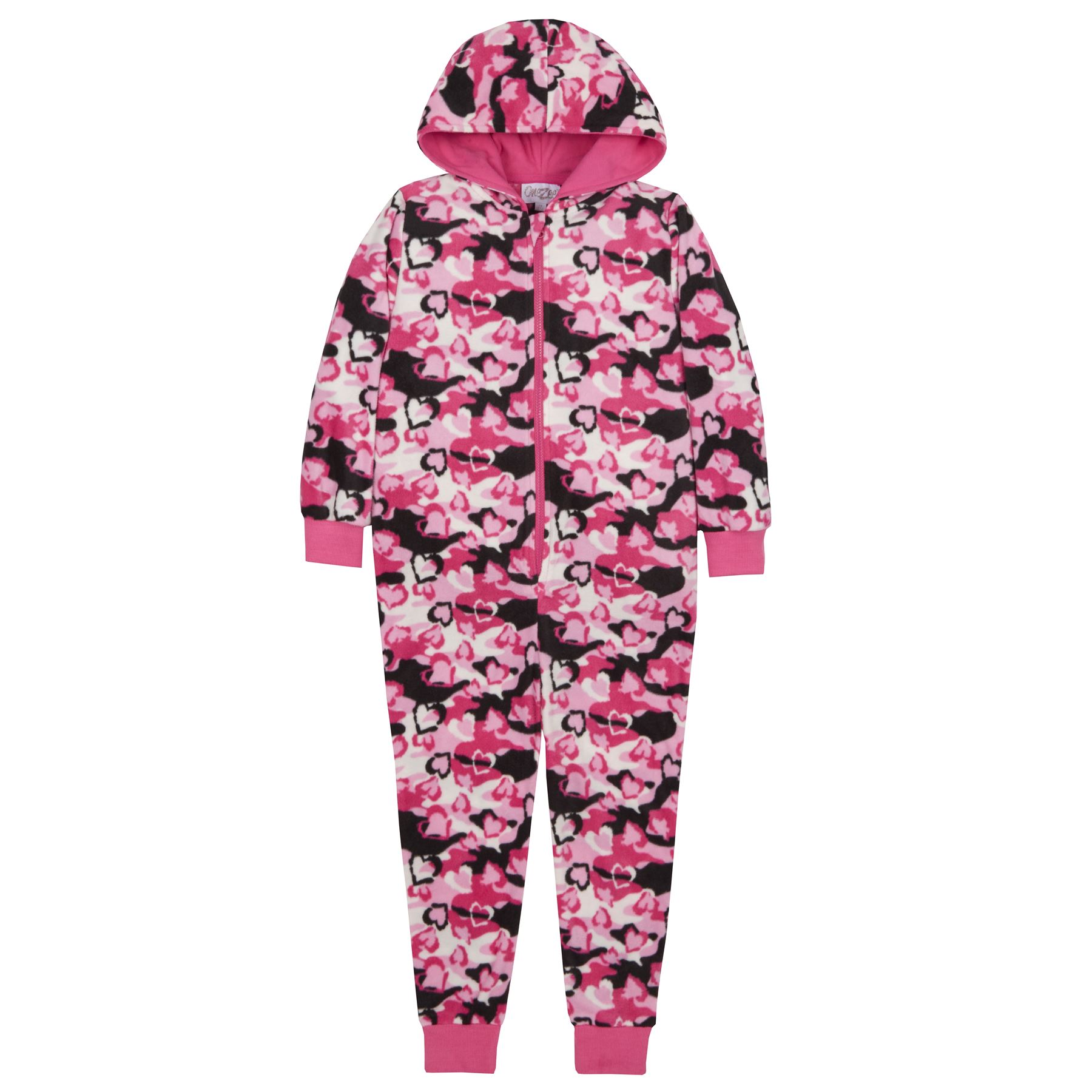 93649f7d7d0c Girls Boys Childrens Fleece All In One Hood Kids Pyjamas Costume Age ...