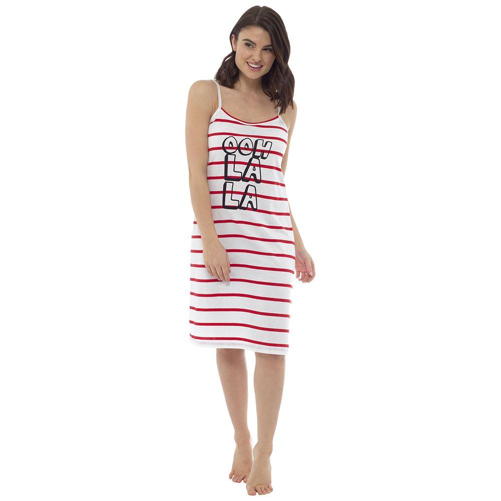 Ladies-Womens-Cotton-Chemise-Nightdress-Nightie-Pyjamas-Size-8-22-NEW miniatura 6