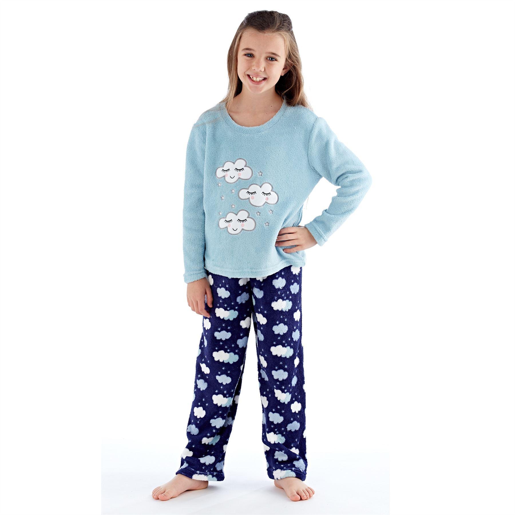 Girls-Boys-Fleece-Pyjamas-Childrens-Pyjama-Set-Kids-PJs-Age-2-13-Years thumbnail 20