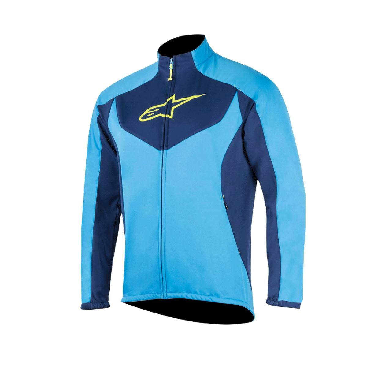Alpinestars Bright Blue-deep Blue 2017 Mid Layer MTB Jacket S Brown ... 2b607ef4e