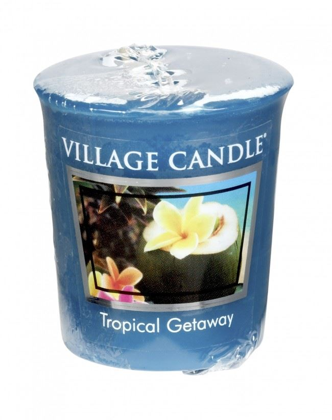 Village Candle Votive 2oz Premuim Wax Candle Spring Scent Ginger Pear Fizz