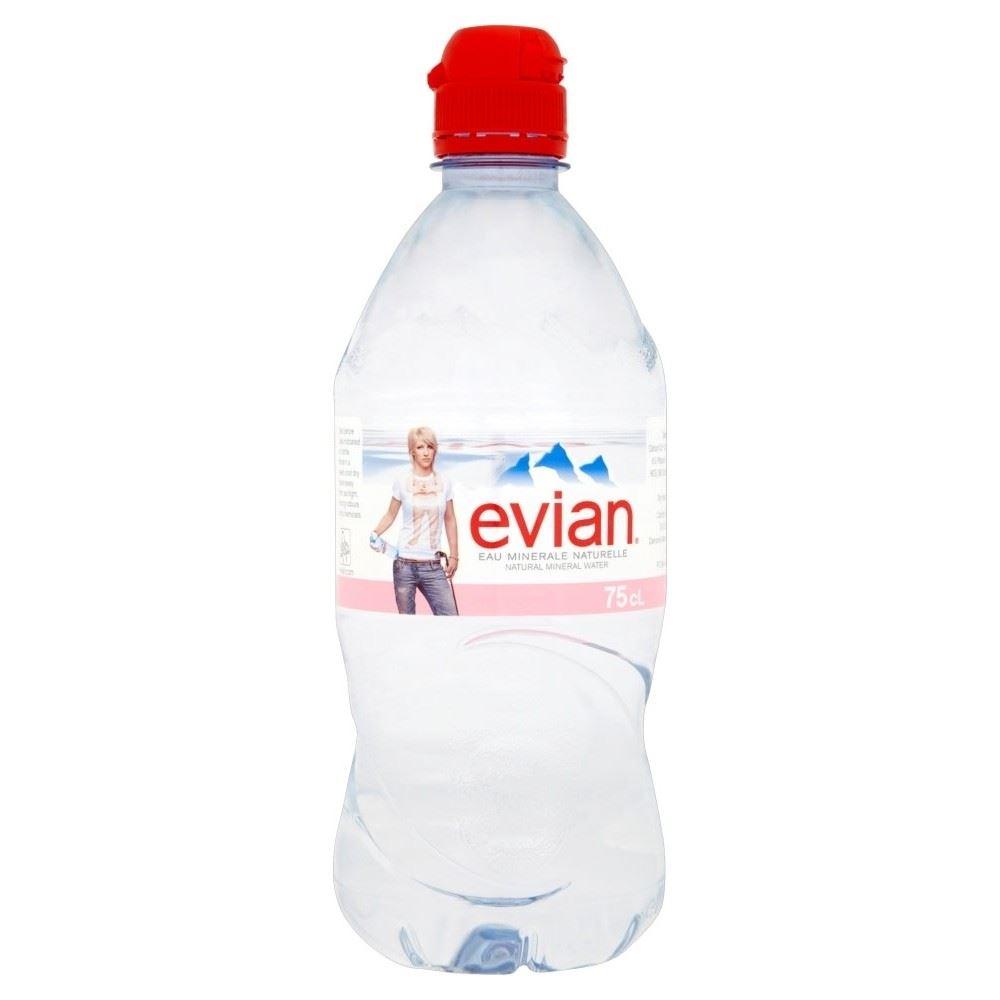 f416a41cbe Evian Natural Still Mineral Water (750ml) 721865134463   eBay