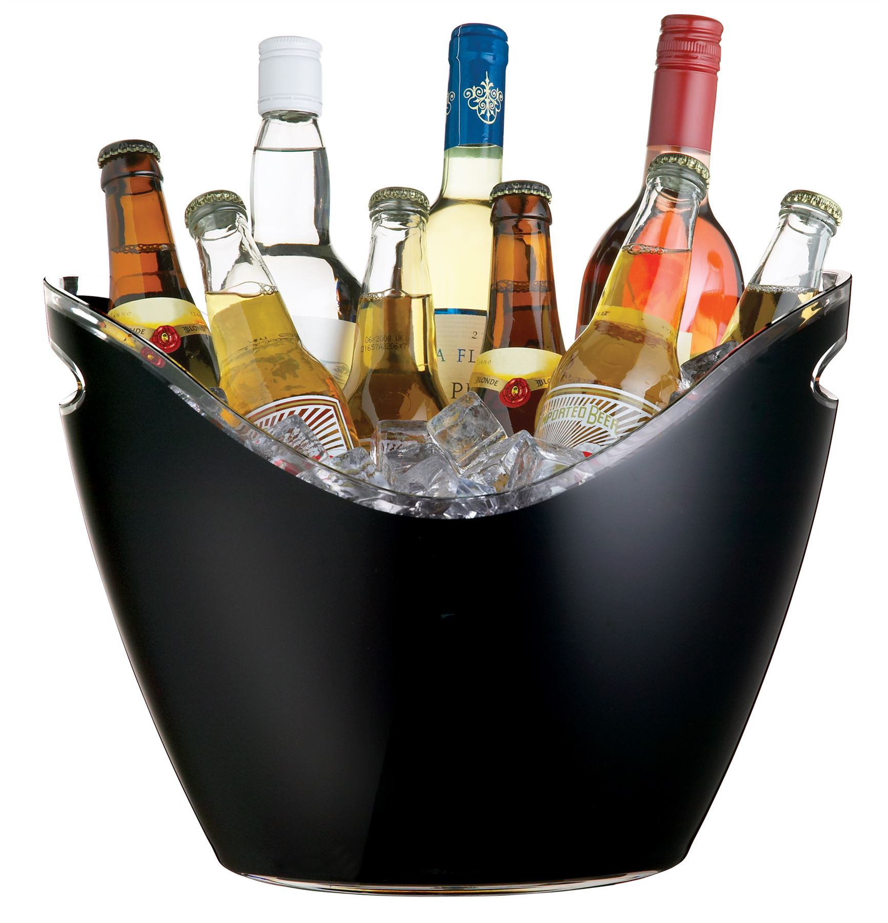 Champagne Beer Ice Bucket Black Acrylic Plastic Large Oval Drinks Pail Cooler Ice Buckets Wine Coolers Home Furniture Diy Plastpath Com Br