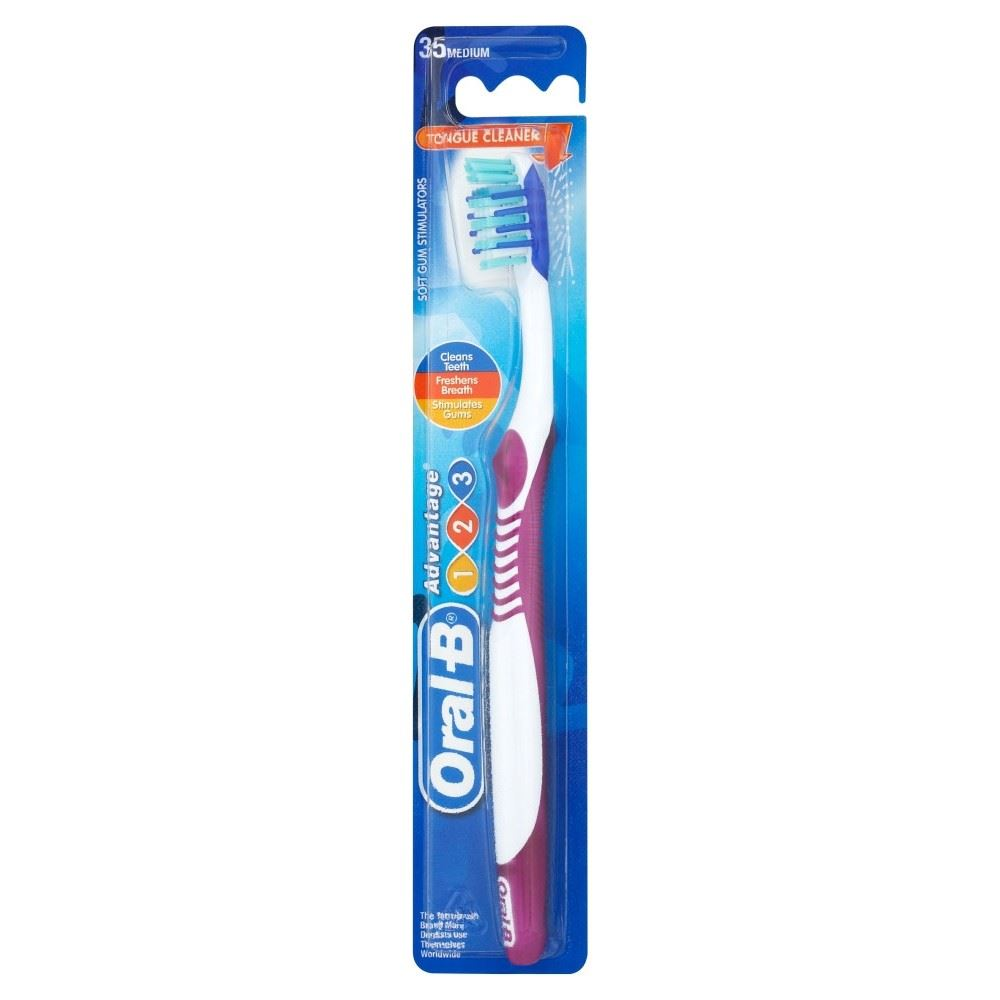 oral b advantage 123 medium 35 toothbrush ebay. Black Bedroom Furniture Sets. Home Design Ideas