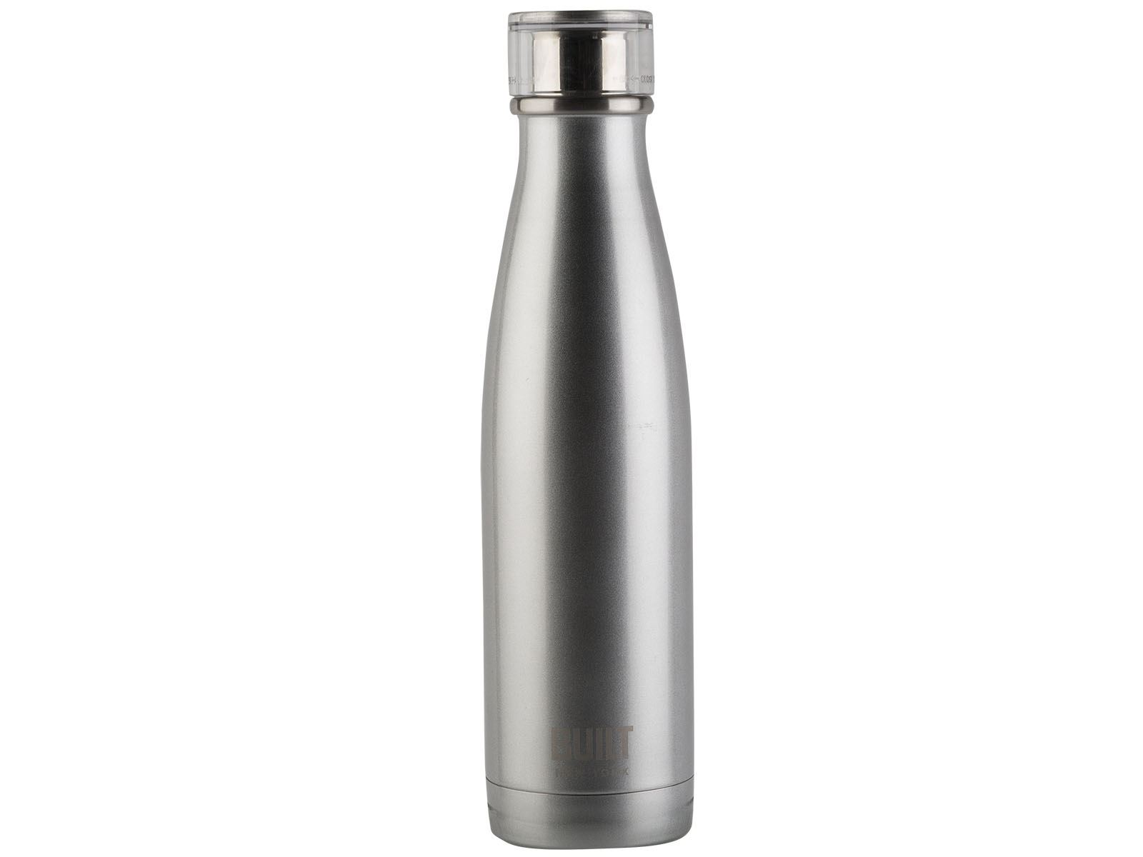 8b0b99551e Built 17oz Double Walled Stainless Steel Water Bottle Silver ...