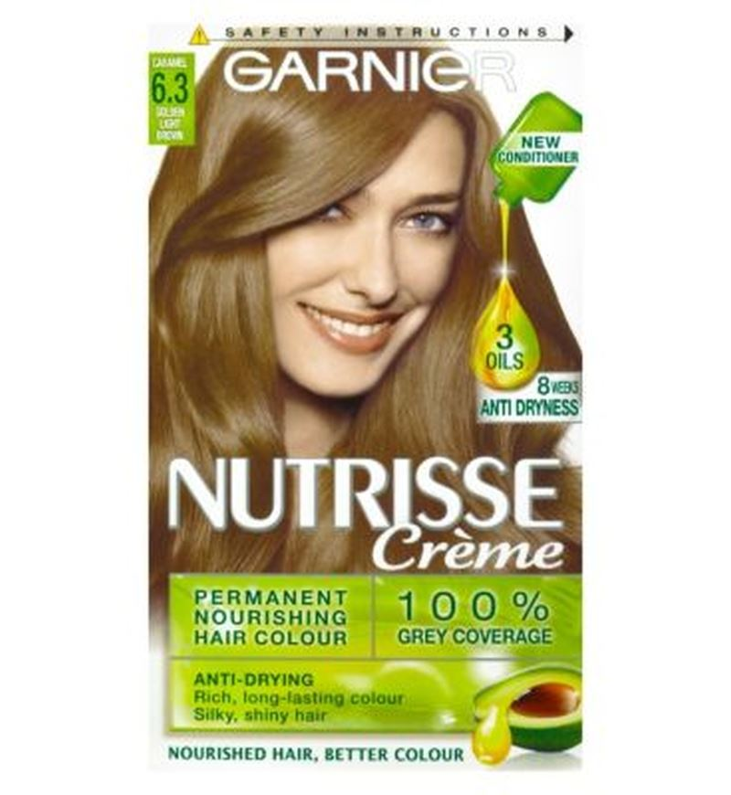 Garnier Nutrisse Creme Permanent Hair Colour 63 Caramel Light Brown