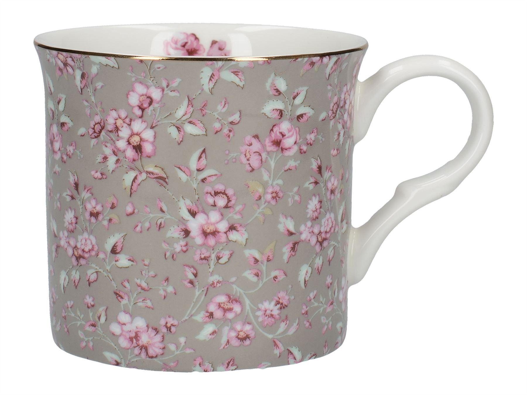 Katie Alice Ditsy Floral Palce Mug Grey Floral 5050993070714  cc037a61b8d