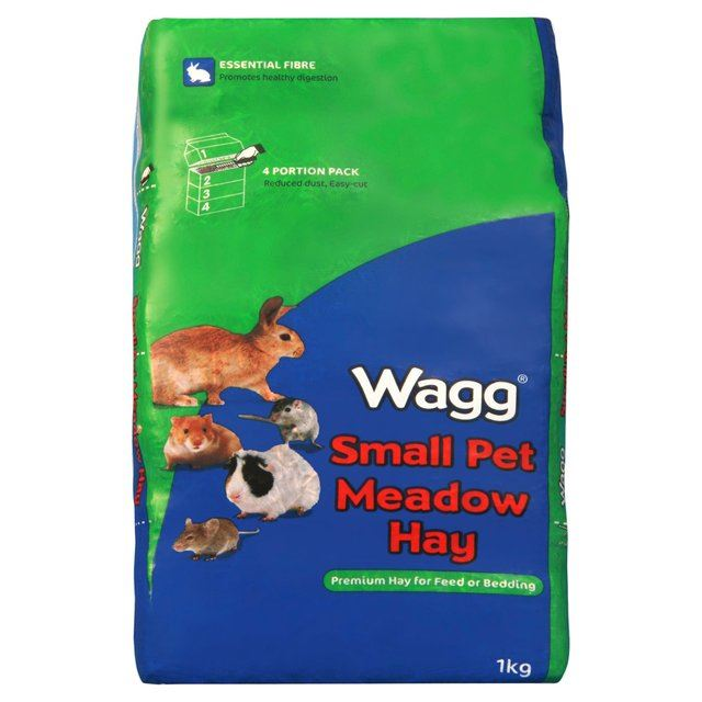 Wagg Meadow Hay 1kg PACK OF 2