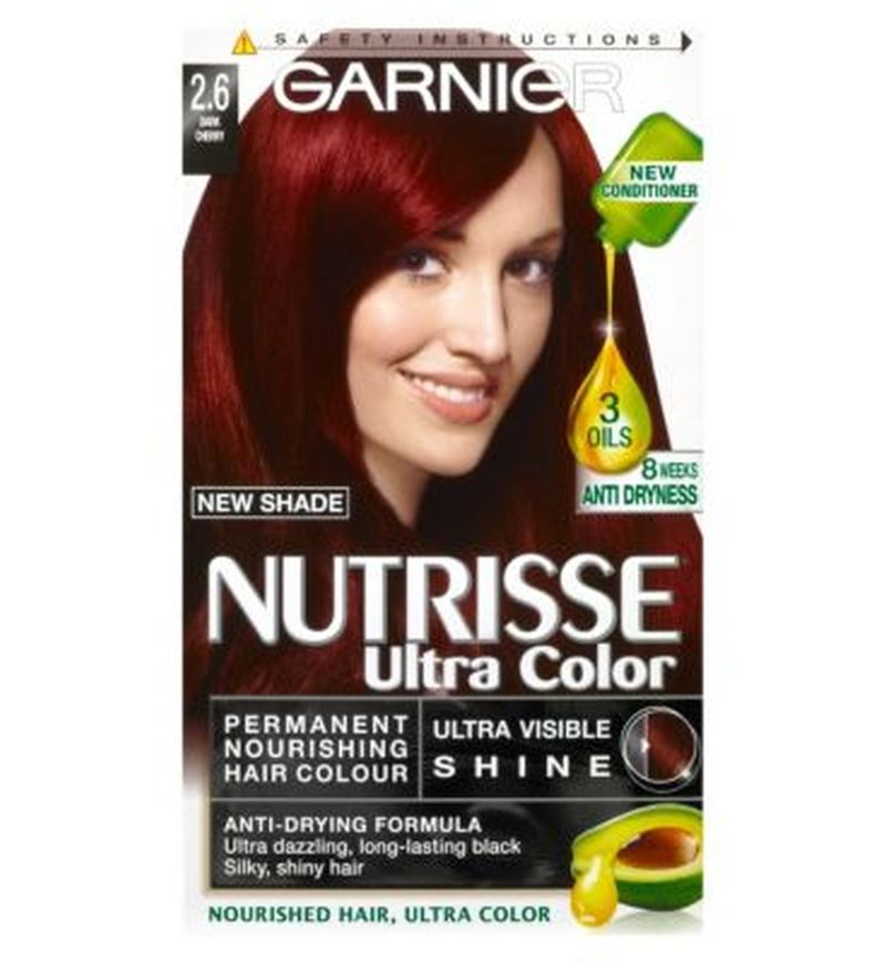 Garnier Nutrisse Ultra Permanent Colour 26 Dark Cherry 721865927195