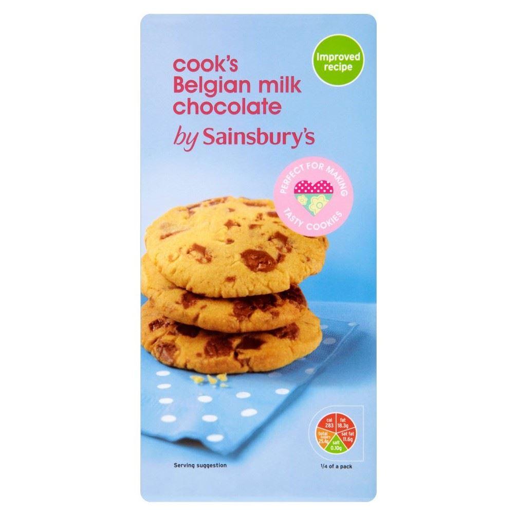 Details About Sainsburys Belgian Cooking Chocolate Milk 200g