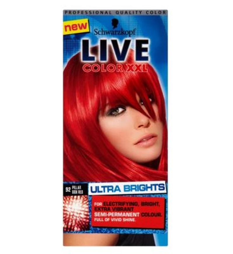 Schwarzkopf Live Color Xxl 92 Pillar Box Red Semi Permanent Red Hair