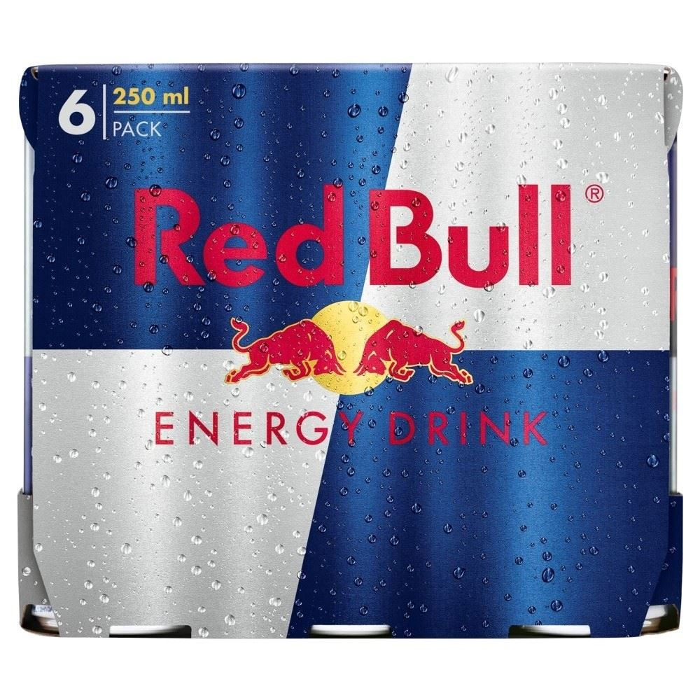 red bull energy drink 6x250ml 721864914448 ebay. Black Bedroom Furniture Sets. Home Design Ideas