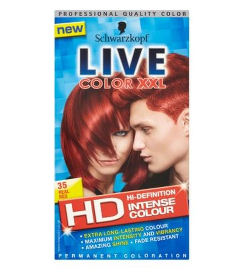 Schwarzkopf Live Color Xxl Hd 35 Real Red Permanent Red Hair Dye