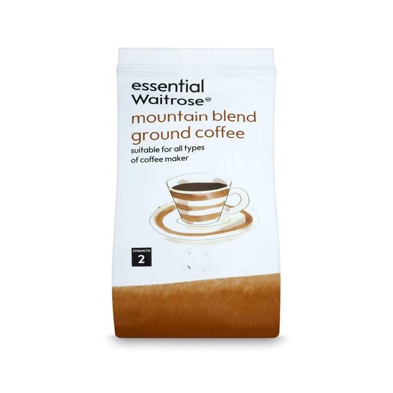 Ground Coffee Mountain Blend essential Waitrose 227g