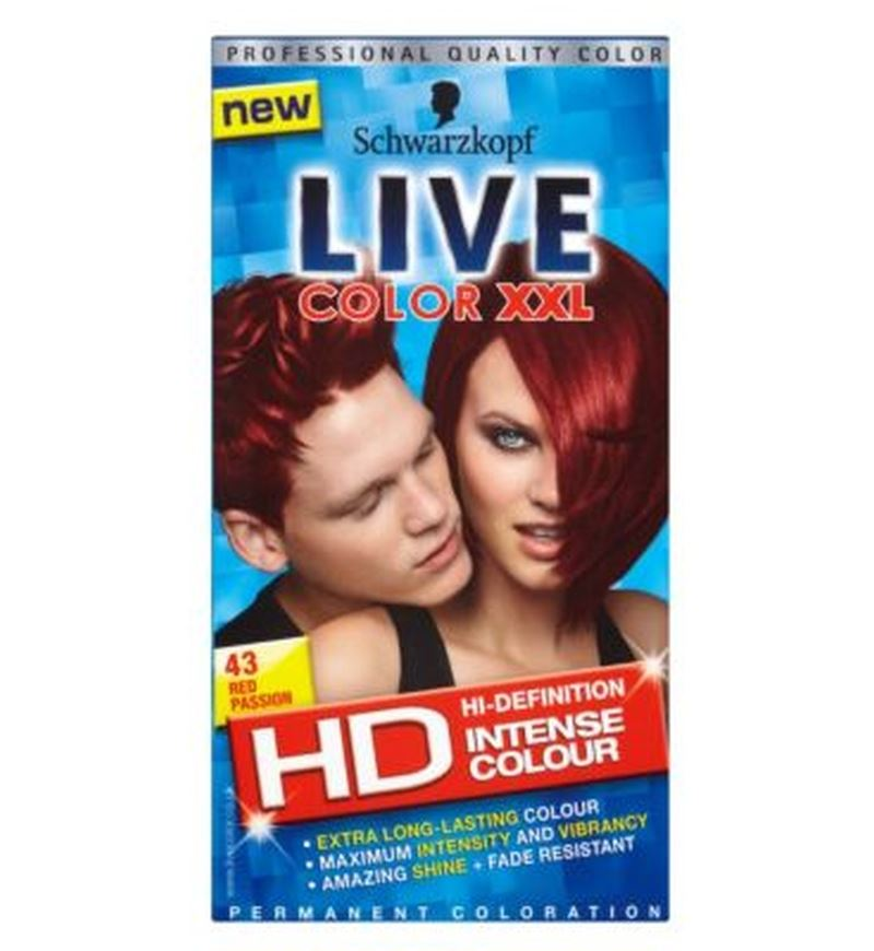Schwarzkopf Live Color Xxl Hd 43 Red Passion Permanent Red Hair Dye