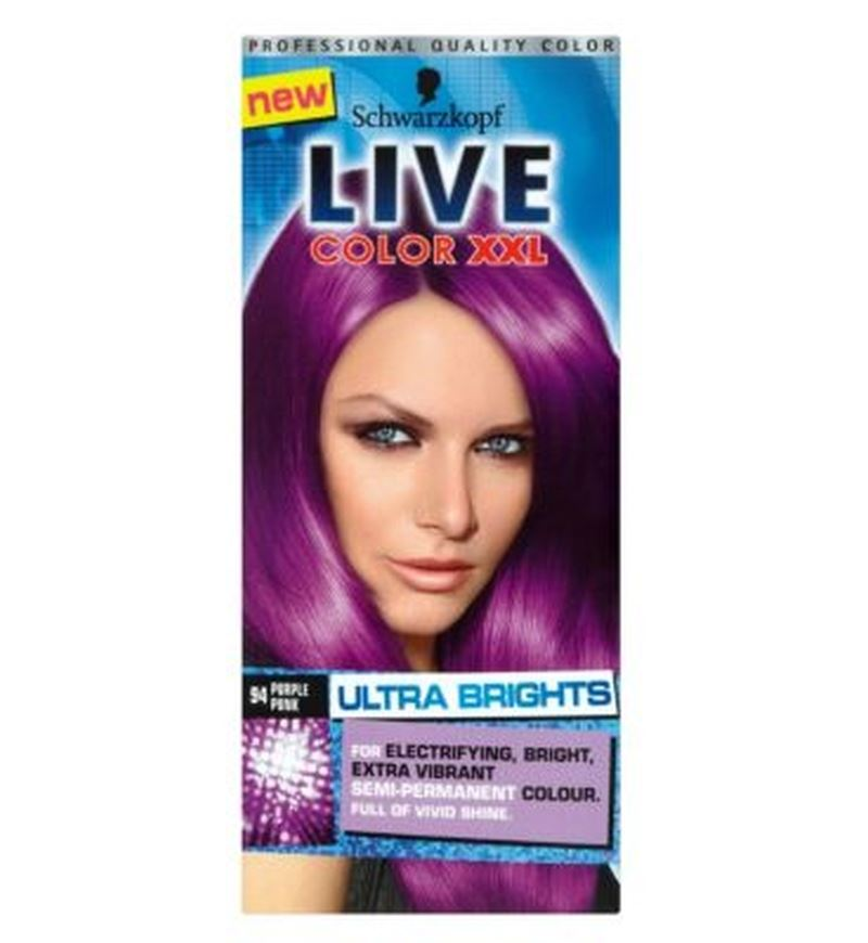 Schwarzkopf Live Color Xxl 94 Purple Punk Semi Permanent Purple Hair