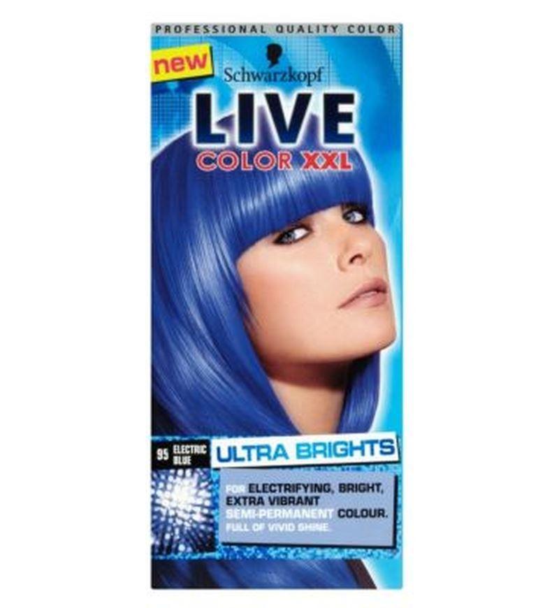 Details About 2 X Schwarzkopf Xxl Ultra Brights 95 Electric Blue Semi Permanent Blue Hair Dye
