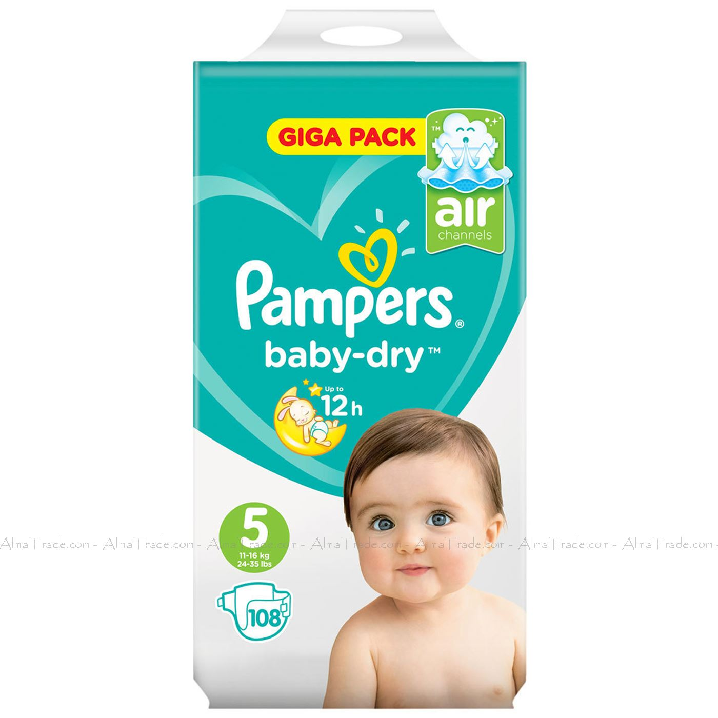 Pampers-Baby-Dry-Nappy-Air-Channels-Nappies-Size-1-2-3-4-5-6-7-Jumbo-Giga-Pack thumbnail 27