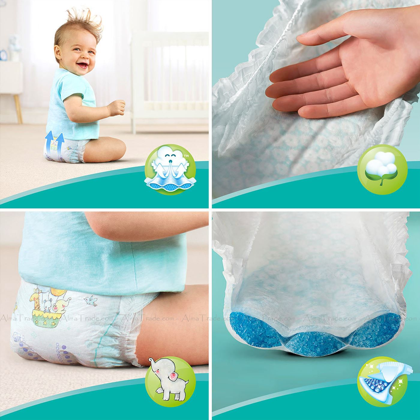 Pampers-Baby-Dry-Nappy-Air-Channels-Nappies-Size-1-2-3-4-5-6-7-Jumbo-Giga-Pack thumbnail 25
