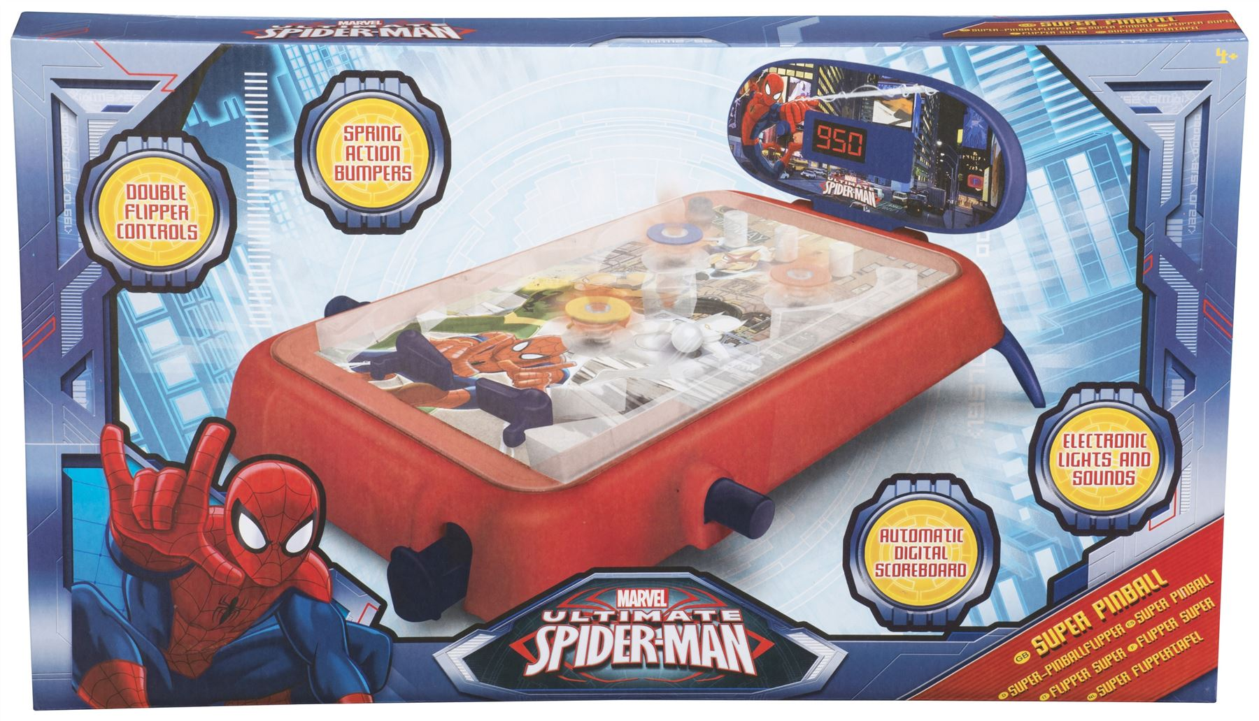 Sambro Ultimate Spiderman Super Pinball (Medium) [Toy] | eBay