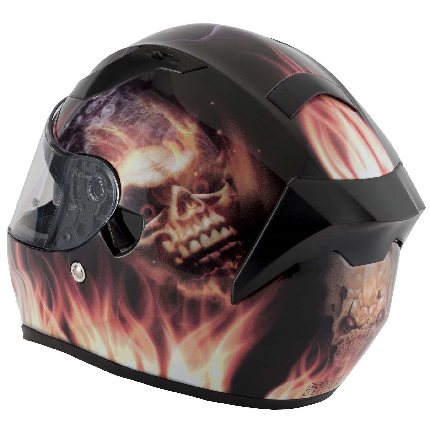 thumbnail 16 - VCAN V128 Dragon Skull Monster Motorcycle Bike Helmet With Drop Down Sun Visor