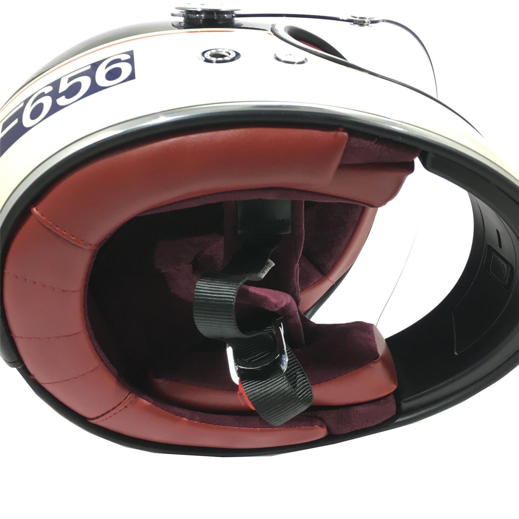 Viper-F656-Retro-Vintage-FibreGlass-Full-Face-Motorcycle-Bike-Road-Crash-Helmet miniature 21