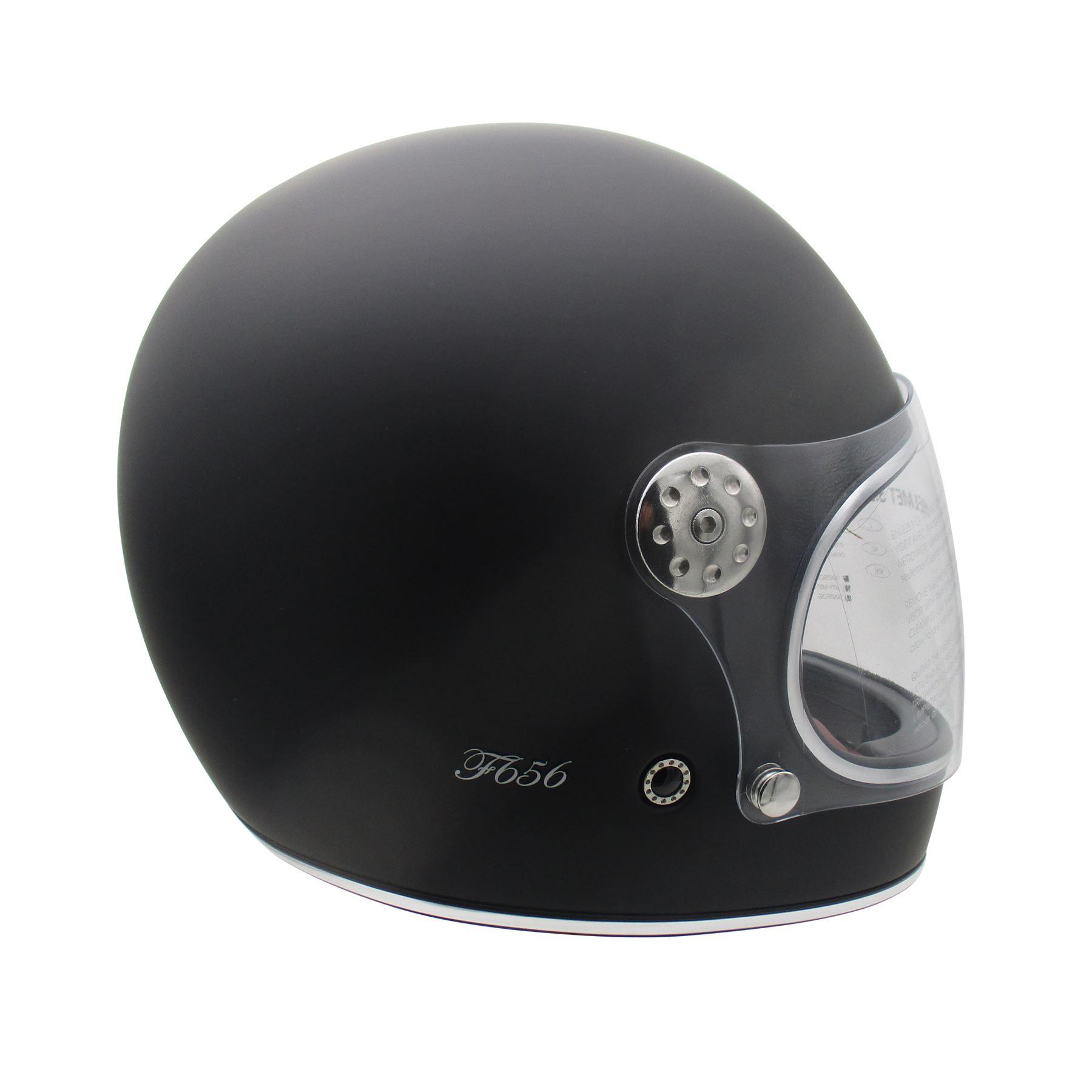 Viper-F656-Retro-Vintage-FibreGlass-Full-Face-Motorcycle-Bike-Road-Crash-Helmet miniature 18