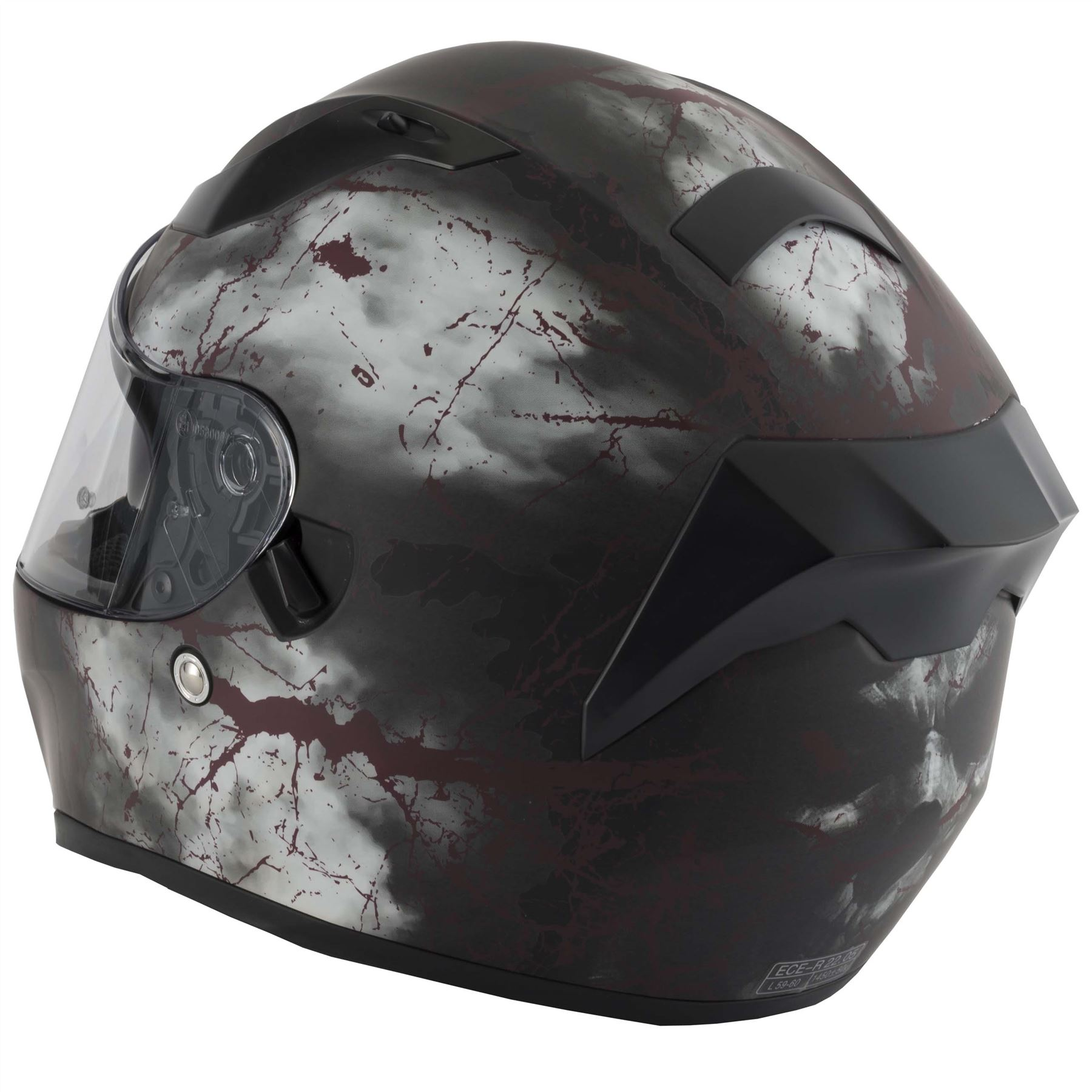 thumbnail 19 - VCAN V128 Dragon Skull Monster Motorcycle Bike Helmet With Drop Down Sun Visor