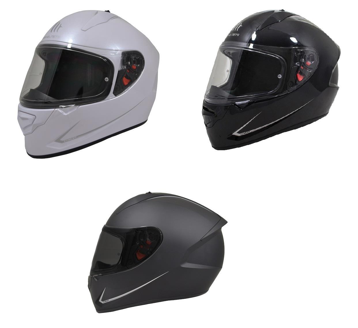 MT Stinger Full Face Motorcycle Motorbike Scooter Helmet Pearl White