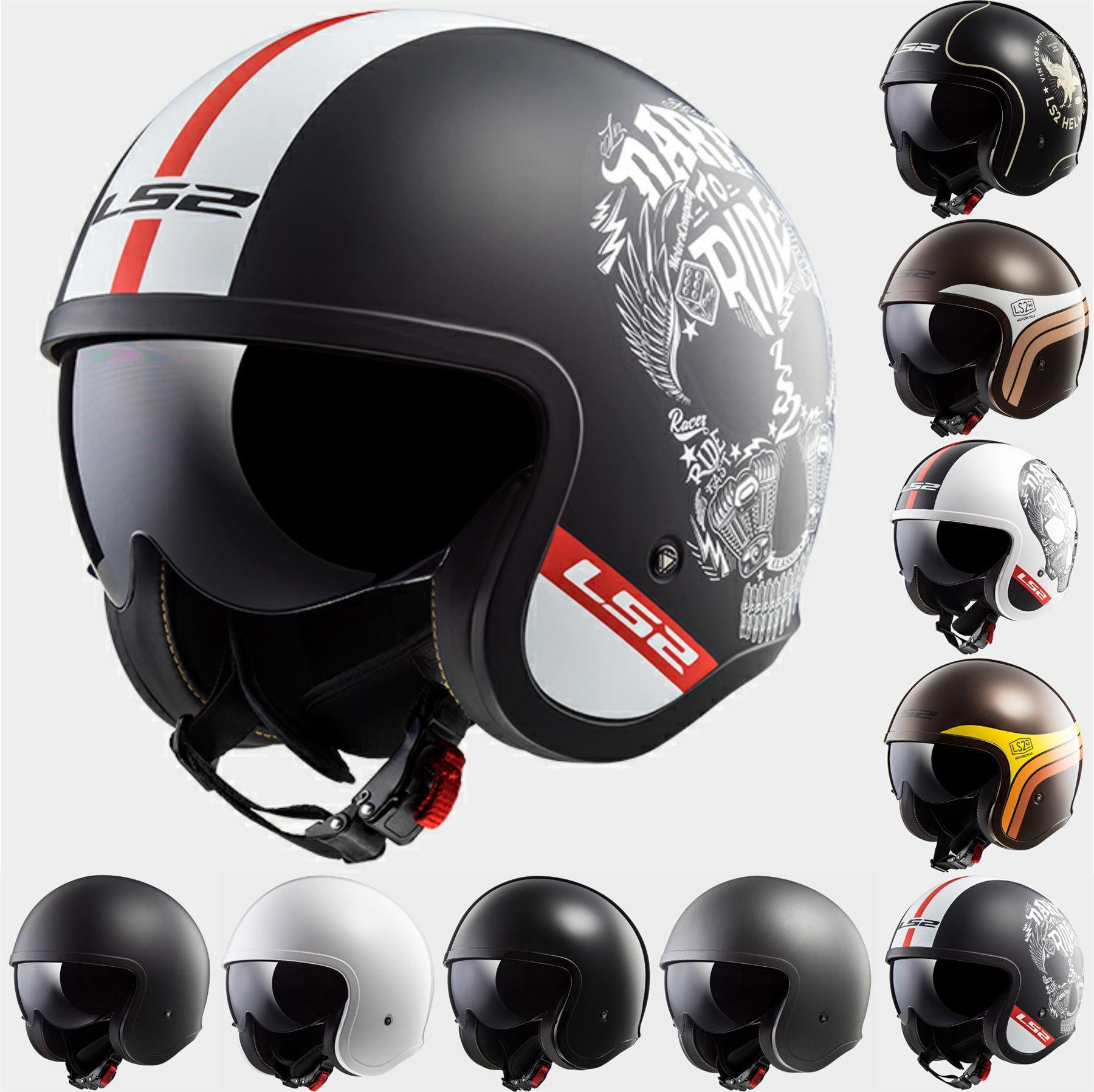Ls2 Of599 Spitfire Motorcycle Open Face Urban Scooter Helmet Ebay