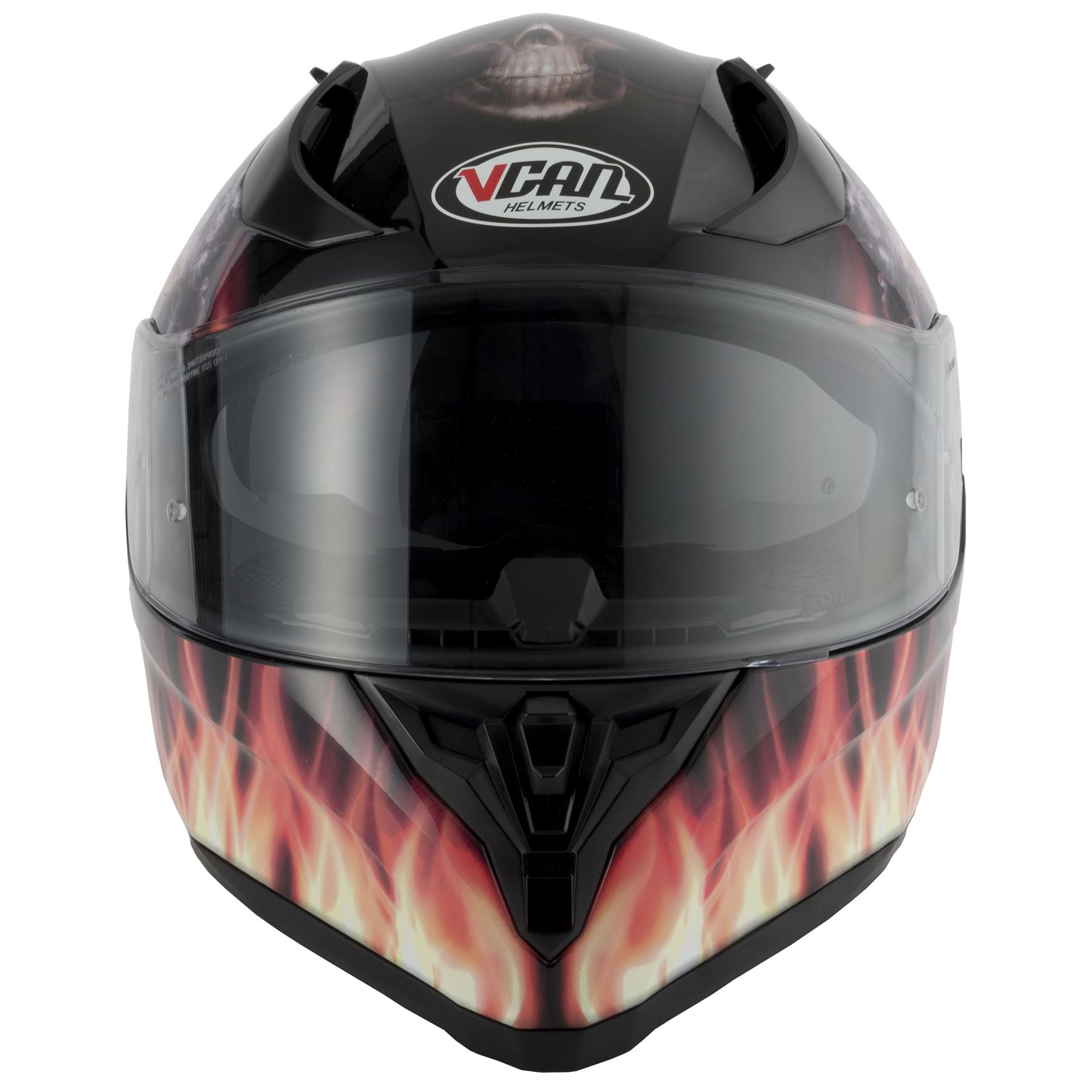 thumbnail 15 - VCAN V128 Dragon Skull Monster Motorcycle Bike Helmet With Drop Down Sun Visor