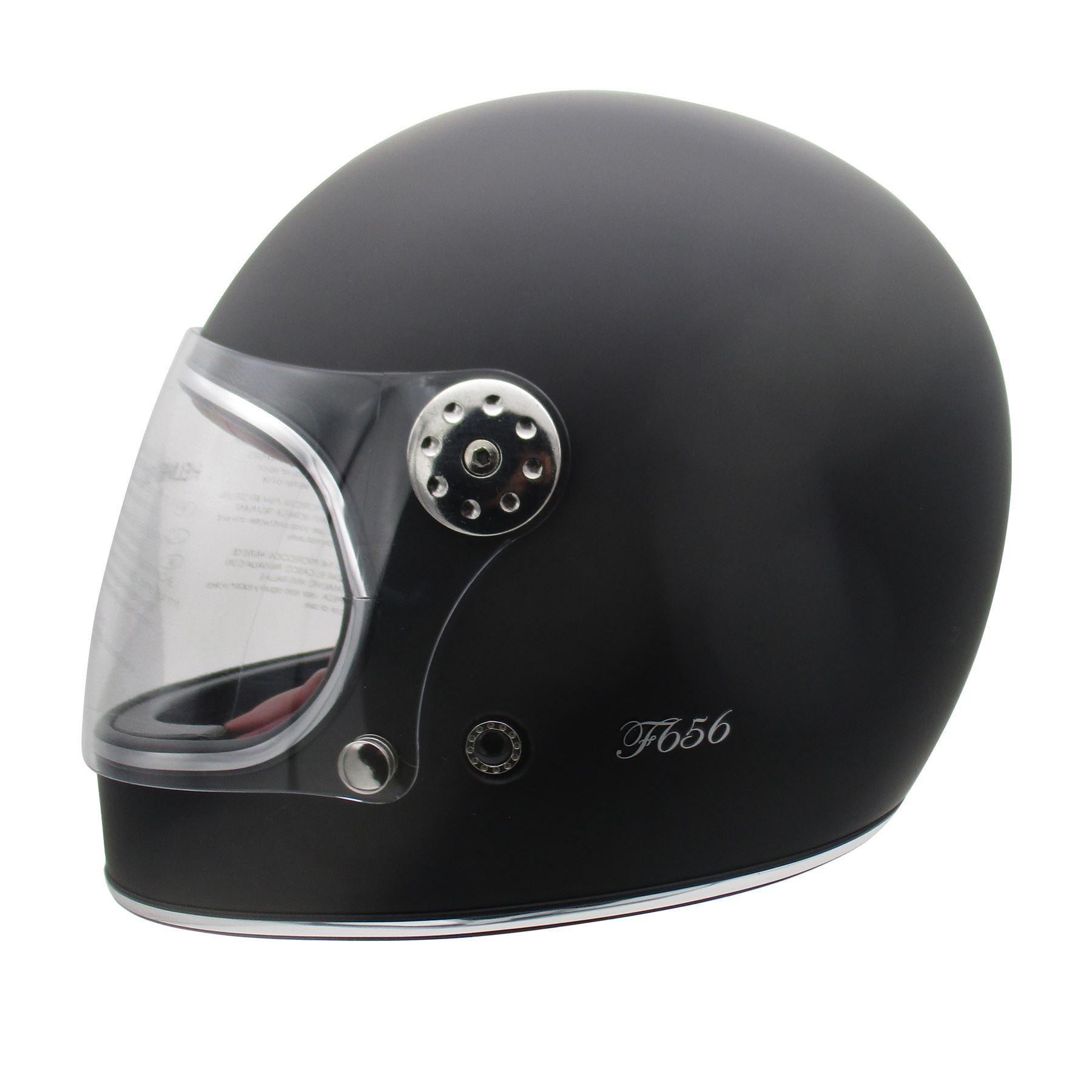 Viper-F656-Retro-Vintage-FibreGlass-Full-Face-Motorcycle-Bike-Road-Crash-Helmet miniature 16
