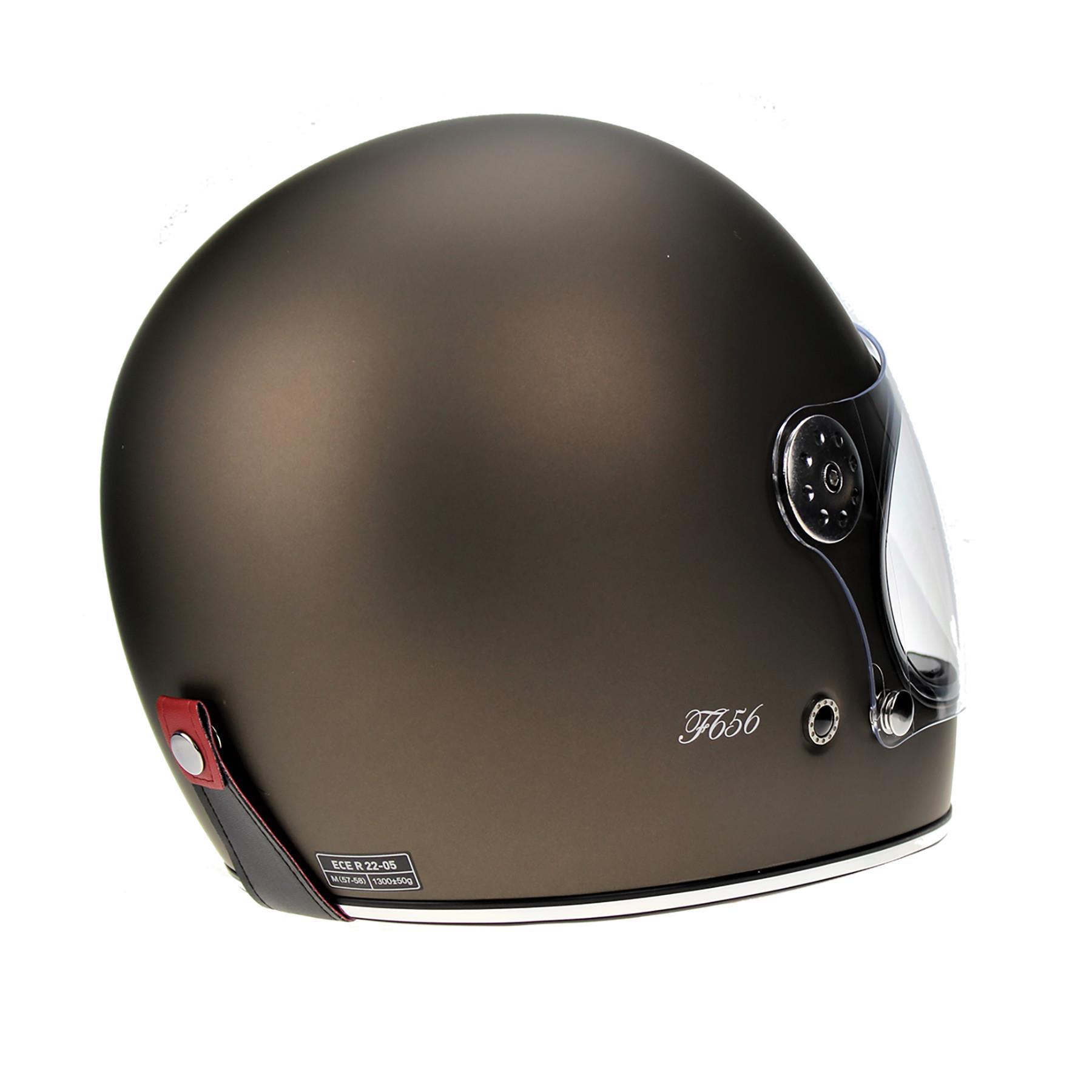 Viper-F656-Retro-Vintage-FibreGlass-Full-Face-Motorcycle-Bike-Road-Crash-Helmet miniature 26