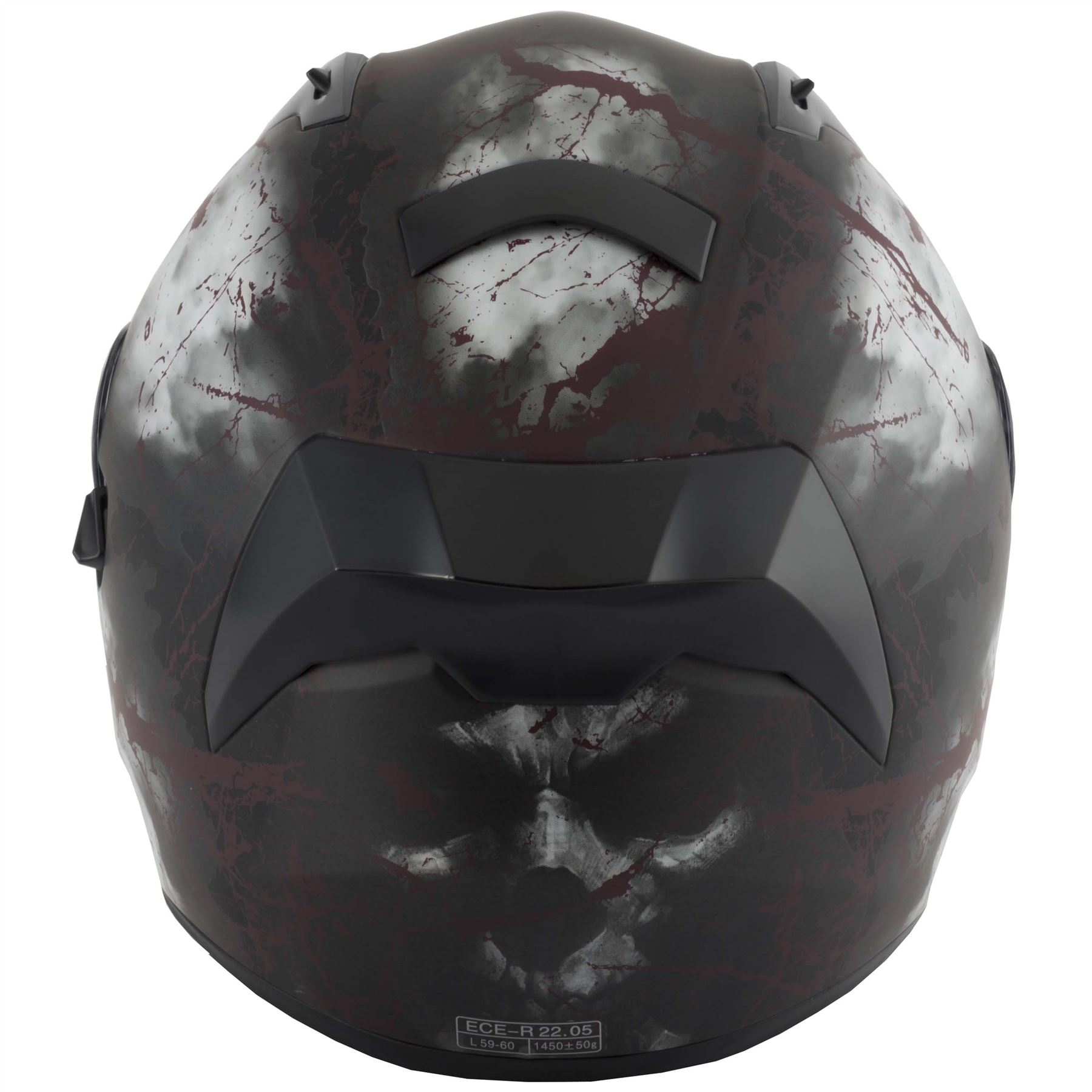 thumbnail 20 - VCAN V128 Dragon Skull Monster Motorcycle Bike Helmet With Drop Down Sun Visor