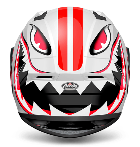 Airoh Valor Conquer Full Face XL Motorcycle Motorbike Crash Helmet ACU Red White