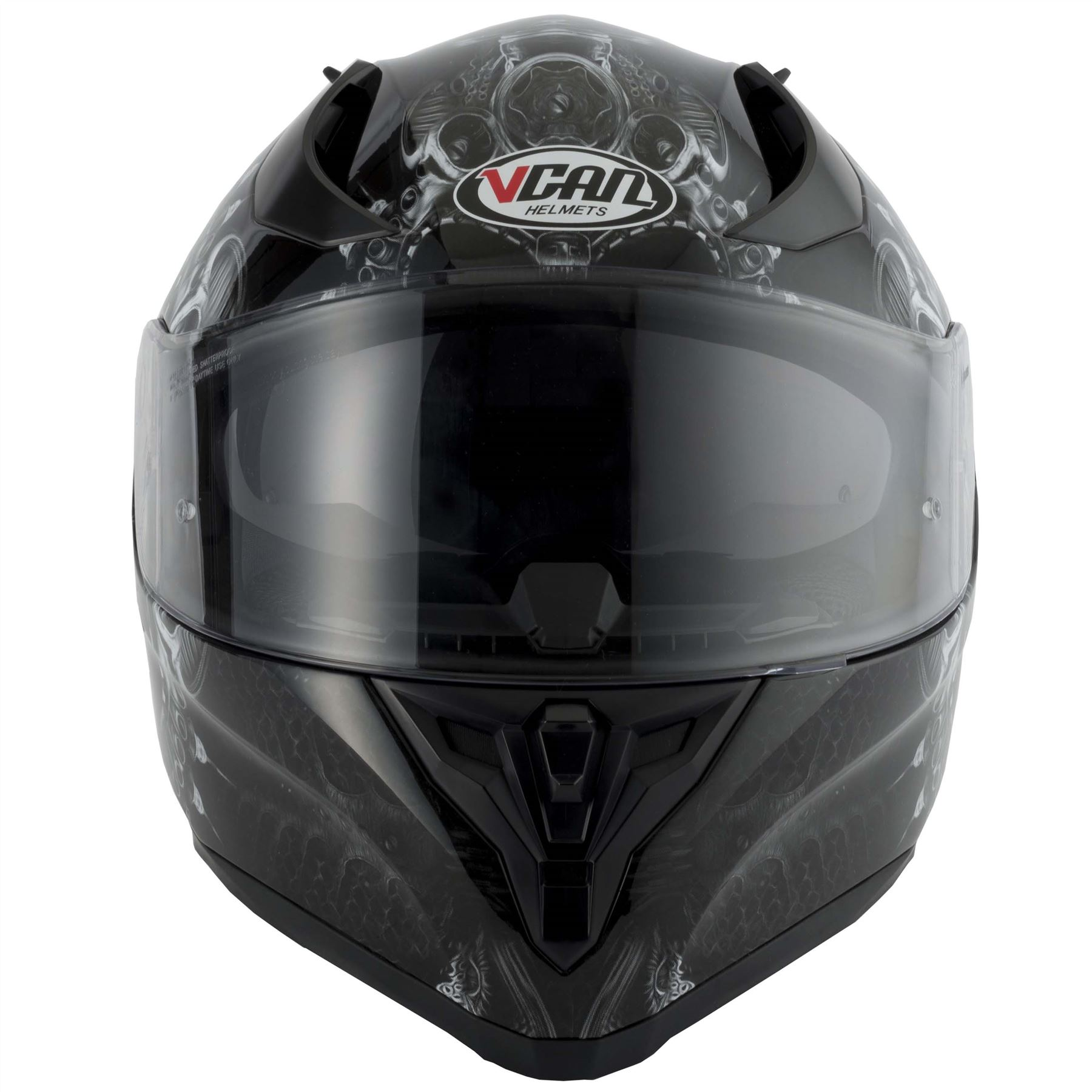 thumbnail 24 - VCAN V128 Dragon Skull Monster Motorcycle Bike Helmet With Drop Down Sun Visor