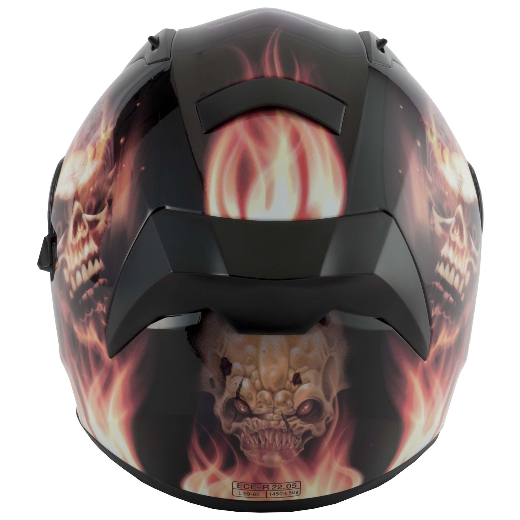 thumbnail 17 - VCAN V128 Dragon Skull Monster Motorcycle Bike Helmet With Drop Down Sun Visor