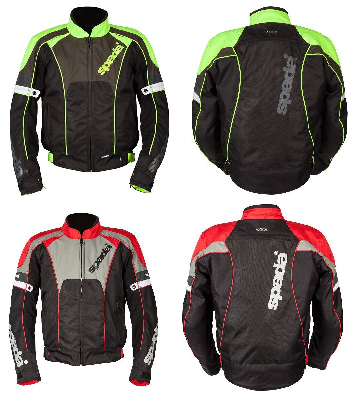 Fluo Yellow Grey Spada Burnout 2 Motorbike Motorcycle Textile Jacket Black