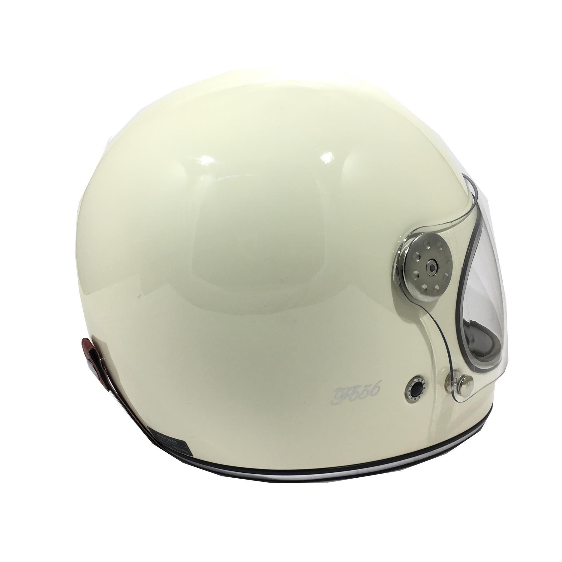 Viper-F656-Retro-Vintage-FibreGlass-Full-Face-Motorcycle-Bike-Road-Crash-Helmet miniature 15