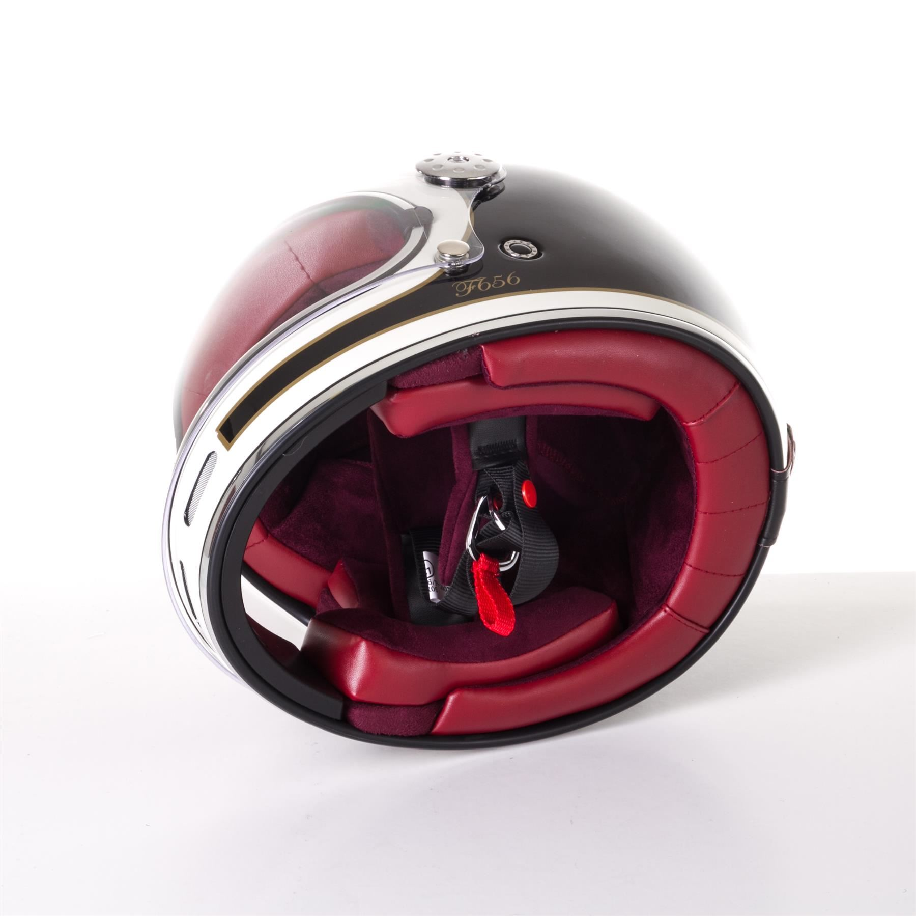 Viper-F656-Retro-Vintage-FibreGlass-Full-Face-Motorcycle-Bike-Road-Crash-Helmet miniature 7