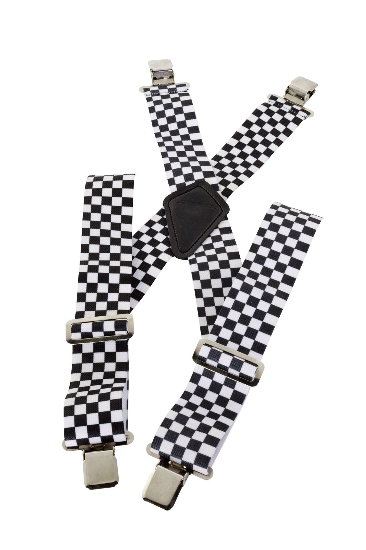 Bikeit Elastic Checkered Motorcycle Braces For Leather /& Textile Trousers