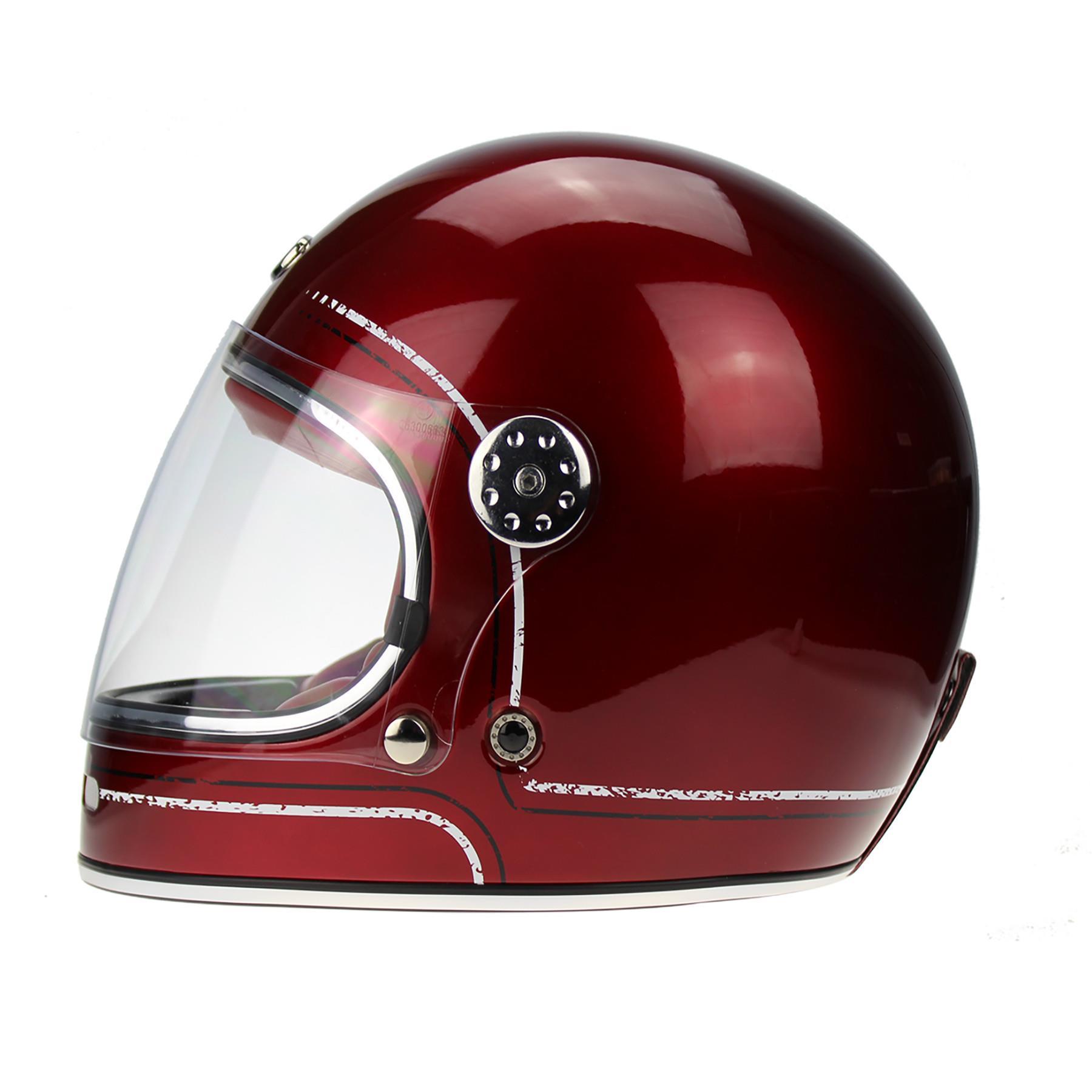 Viper-F656-Retro-Vintage-FibreGlass-Full-Face-Motorcycle-Bike-Road-Crash-Helmet miniature 9