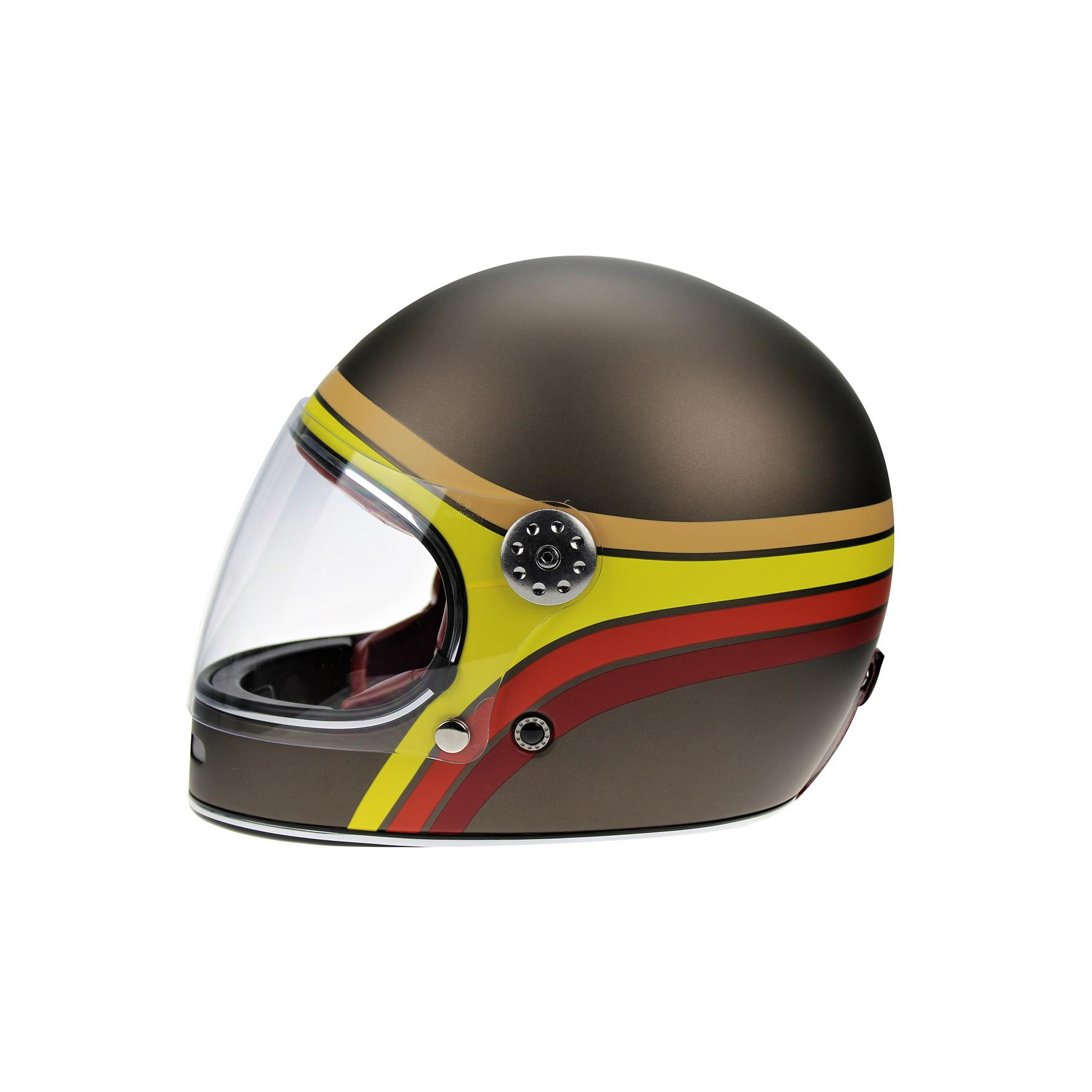 Viper-F656-Retro-Vintage-FibreGlass-Full-Face-Motorcycle-Bike-Road-Crash-Helmet miniature 29
