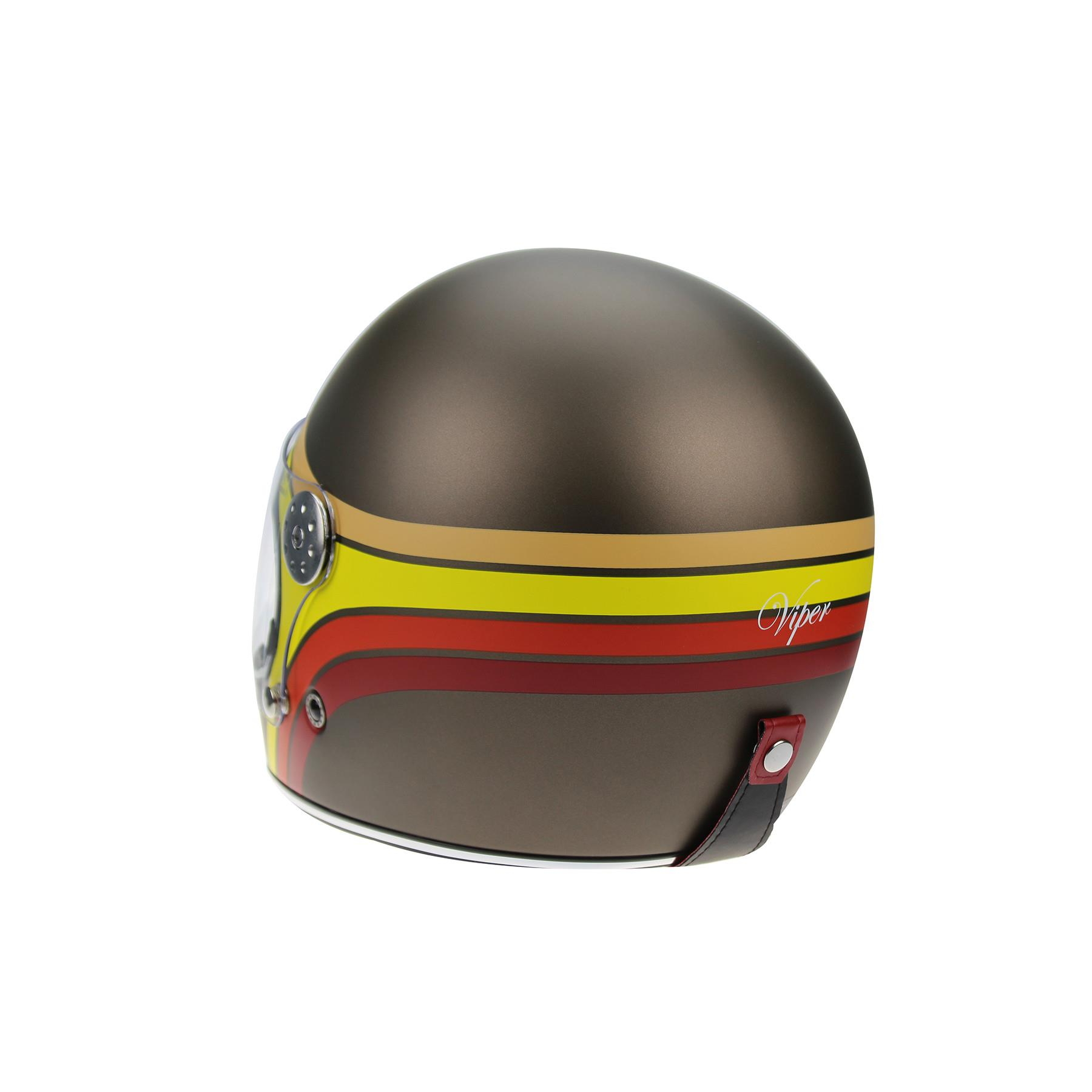 Viper-F656-Retro-Vintage-FibreGlass-Full-Face-Motorcycle-Bike-Road-Crash-Helmet miniature 31