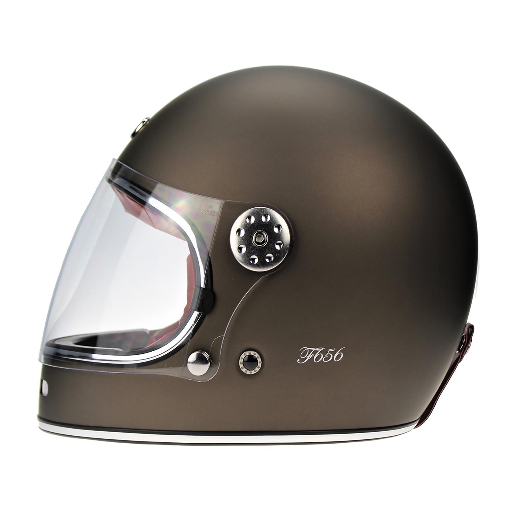 Viper-F656-Retro-Vintage-FibreGlass-Full-Face-Motorcycle-Bike-Road-Crash-Helmet miniature 25