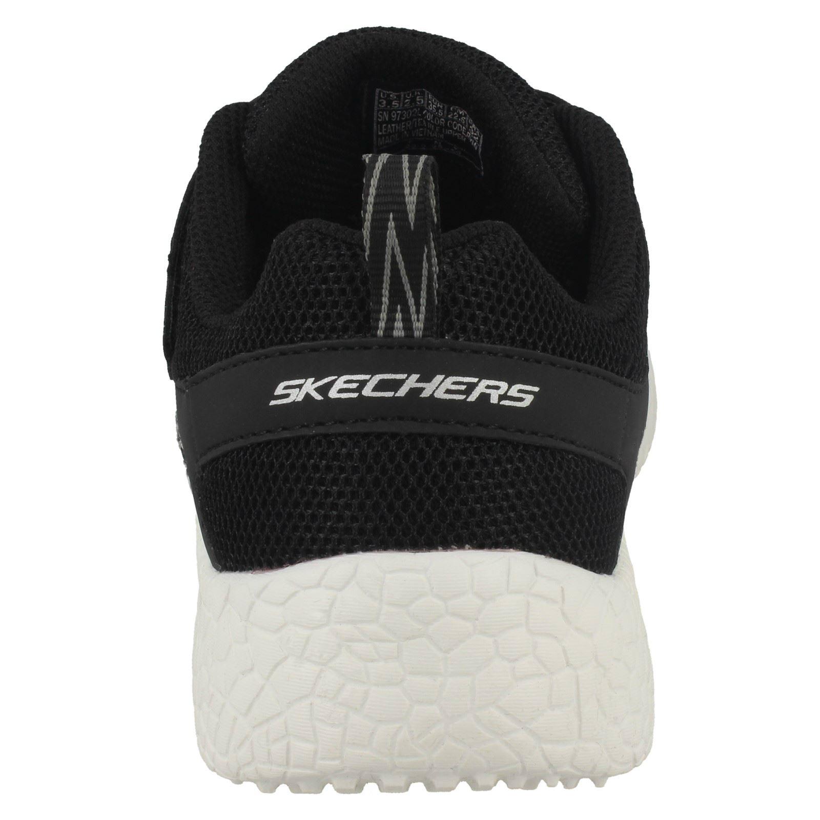 Riptape en confortables blanc pour Power garçon Noir noir 97302l Baskets cuir Sprints Skechers Burst 75t7Fn